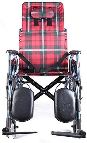 XXY.XXY Sedia a rotelle per Il Tempo Libero Carrozzelle per Il Tempo Libero 23Kg Sedile ergonomico Pieghevole Comodo bracciolo Regolabile Schienale Gambe 100Kg Portante 45 * 46 cm Larghezza S