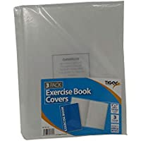 A5 Clear Exercise Book Covers (240mm x 180mm) Strong Plastic Protecting Sleeves School Notebook (3 Pack)