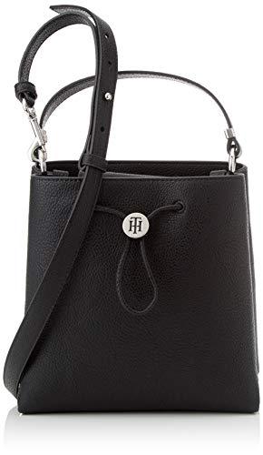 Tommy Hilfiger Th Core Mini Bucket, Sacs bandoulière femme, Noir (Black), 10x21x20.5 cm (W x H L)