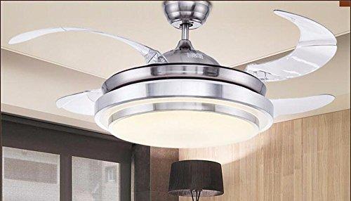 Gzlight ventilatore da soffitto camere da letto luci lampadario