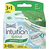 Wilkinson Sword Intuition Naturals - Set de 4 recambios de cuchillas