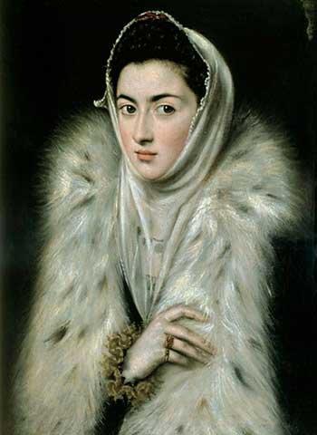 Impresin-artstica-Pster-El-Greco-The-Lady-with-the-fur-Impresin-de-alta-calidad-foto-pster-artstico-40×55-cm