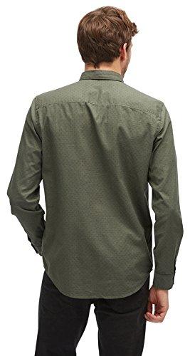 TOM TAILOR Herren Freizeithemd Ray Printed Slub Shirt Original