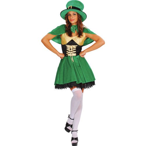 Das Kobold Outfit - Lucky Leprechaun Adults Fancy Dress Ladies