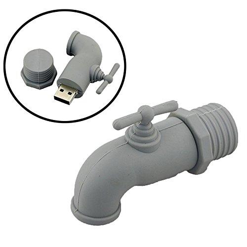 64 GB USB-Stick Grau Wasserhahn Modell Pen Drive Memory Stick USB-Stick USB Stick Flash Drive Thumb-Laufwerk