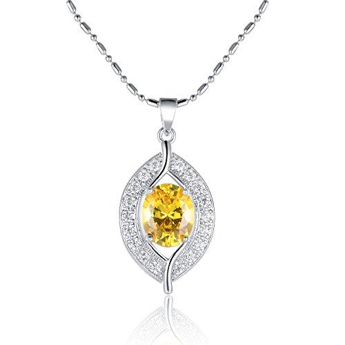 Oven Moda Collana con pendente fascino delle ragazze delle donne Giallo regalo di nozze gioielli di cristalli Swarovski Elements stile Eye