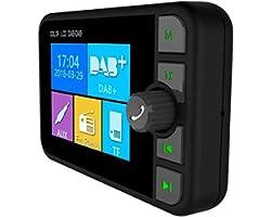 "TKMARS Car Radio/DAB+ Radio Adapter 2.4"" LCD Bluetooth FM Transmitter Handsfree Call Car Kit MP3 Player Music Receiver, Porta"