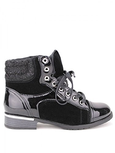 Cendriyon, Bottine vernie noire ZELNA Chaussures Femme Noir