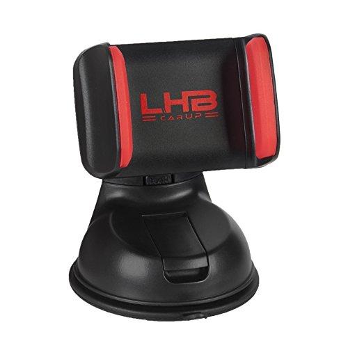 LHB carUP Robuster Universal Handy Halter Auto Windschutzscheibe UVM. | 360° drehbarer Kugelgelenk | Klebebeschichteter Saugnapf -
