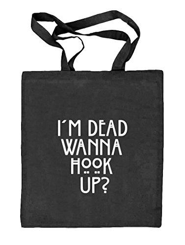 Shirtstreet24, AHS - Wanna Hook Up? Natur Stoffbeutel Jute Tasche (ONE SIZE) schwarz natur