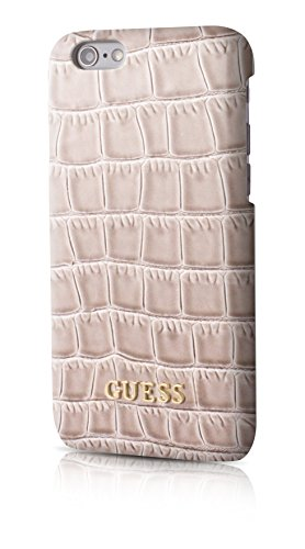 Guess GUHCP6SCOBE Coque pour iPhone 6/6S Effet Croco Beige