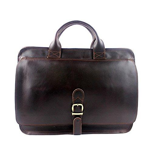 """Guolipin Herrentasche Ledertasche Freizeit-Handtasche für 13 """"Laptop Herren Leder Business Aktentasche Herren Messenger Bag"""
