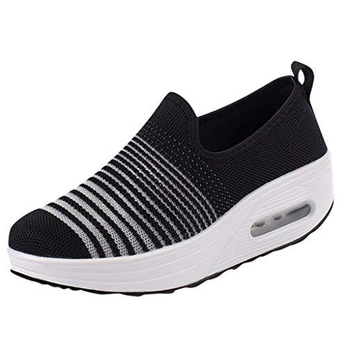 KERULA Sneakers Damen, Klassisch Mode Fashion Casual Thick Bottom Slip Auf Sport Laufen Shake Breathable Low-Top|Herrenschuhe|Basketballschuhe|Freizeitschuhe|Schuhe - Dockers Klassische Slips
