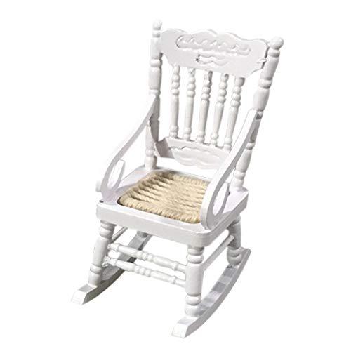 Miniatur Puppenhaus Stühle 1 12 Skala Puppenhaus Zubehör Holz Mini Schaukelstuhl Möbel für 1:12 Puppenhaus Spielzeug Dekoration -