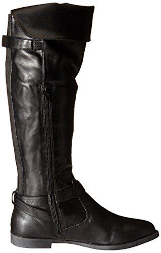 Bella Vita RomyII Breit Rund Kunstleder Mode-Knie hoch Stiefel Black