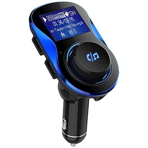 kingko High-End-Dual-USB-2-Port-USB-Kabel Universal BC28 Auto Bluetooth V4.1 + EDR Musik-Player FM-Transmitter Bis zu 64 GB MicroSD (Blau) A/v-modulator