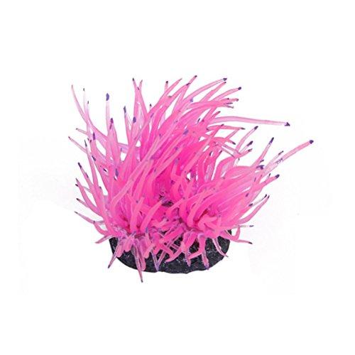 Price comparison product image vorcool Artificial Coral for Fish Tank Aquarium Decoration (Pink)