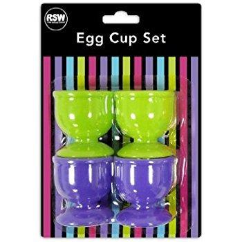 Kunststoff Eierbecher–Set von 4 Kunststoff-utensil Set