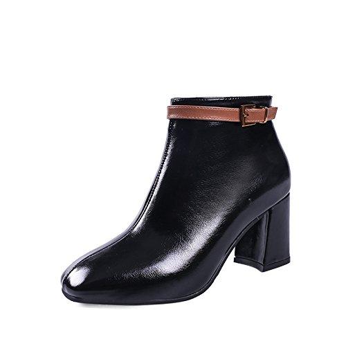 LGK&FALa cheville de Dame Printemps Hiver Démarrage talons rugueux, chaussures, talons hauts, talons hauts, talons hauts et talons hauts 35 black