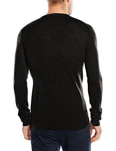 SELECTED HOMME Herren Pullover Shdtower Merino V - neck Noos, Einfarbig Schwarz (Black)