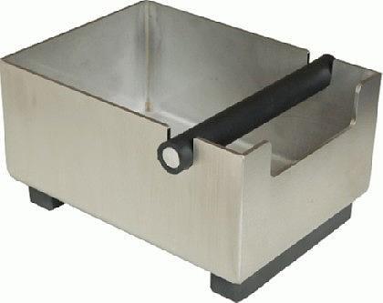 Abschlagbehälter Knockbox Abklopfkasten für Kaffeesatz aus Edelstahl in elegantem Design ohne...