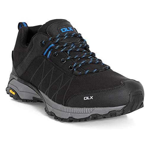 Trespass DLX Chaussures de Trekking et de Randonnée KEYBOARDII pour Hommes, Noir (Black Blk), 43 EU