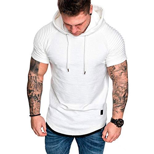 Dwevkeful Freizeithemd Slim Fit Herren Rundhals-Ausschnitt Classic Lightweight Regular Fit Einfarbig Gestreift Hoodie-Sweatshirt Sommer Freizeit Stylisch Business - Diamant-logo-t-shirt