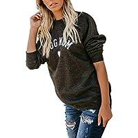 Zarupeng Sudadera de Moda, Blusa para Mujer Blusa de Moda Tops de Manga Larga Empalme Pullover Sweatshirt