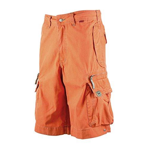 Strandstoßstange Cargo-Shorts für Herren 45020 - 100% Baumwolle, Premium Qualität,Draussen-Mehrzweckkampf Shorts Gefahr orange