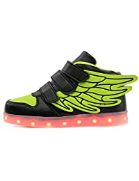 huge discount bfd68 5136e SMILINGGIRL Regali Di Compleanno Unisex Kids Boy Girl USB Ricarica LED  Light Shoes Lampeggianti Sneakers Velcro