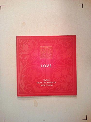 Love Jewels: From the Words of Abdu'l-Baha por Abd al-Baha ibn Baha Allah