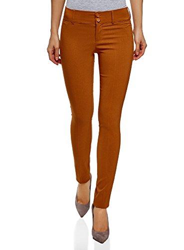 oodji Ultra Women's Slim-Fit Stretch Trousers