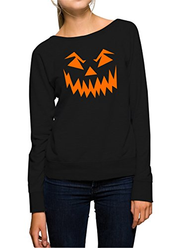Halloween Face Sweater Girls Black Certified Freak-XL