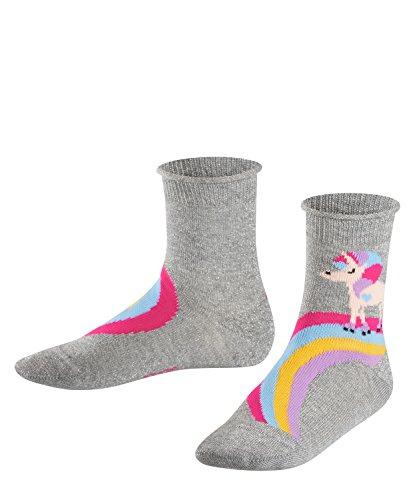 FALKE Mädchen Socken Rainbow Unicorn, Mehrfarbig (Light Grey 3400), 35-38