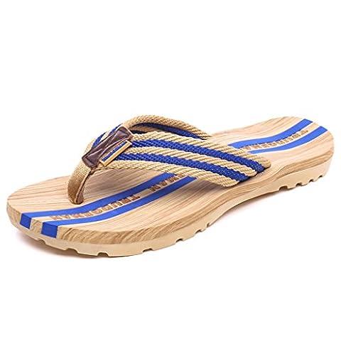 Eagsouni® Mens Womens Striped Non-slip Flip Flops Sandals Summer Beach Shower Casual Slippers Walking Shoes Size 3-8.9