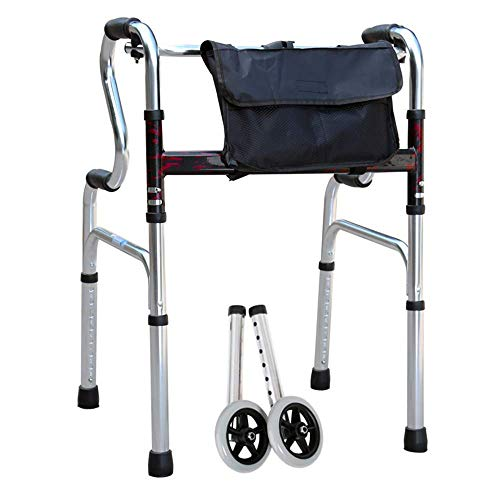 HJW Gehhilfe Walker Folding Walker Multi-Funktions-Walker Pulley Kein Sitz Ältere Walker