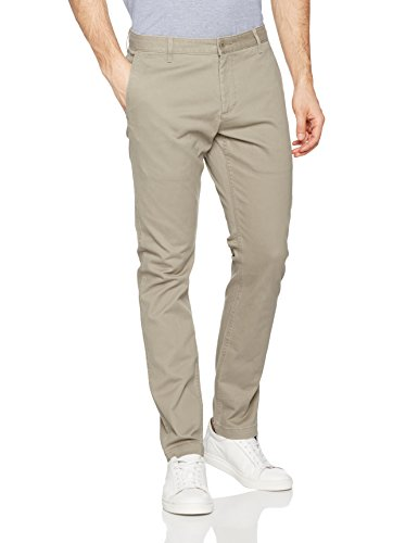 Dockers Herren Hose Washed Khaki Skinny-Stretch Twill, (Safari Beige 0015), 32/34