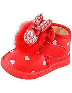 JERFER Kinder Mode Cartoon Cashmere Warm Britische Stiefel Jungen Mädchen Sneaker Winter Kinder Baby Freizeitschuhe...