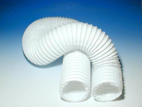 Flexibler Luftschlauch (Flexibler Kunststoff-Luftschlauch DN 100 / 2 Meter, Weiss)