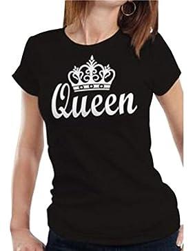 Cayuan King Queen Corona T-Shirt da Coppie Manica Corta Girocollo Maglietta Maglie Camicetta Camicia Tops per...