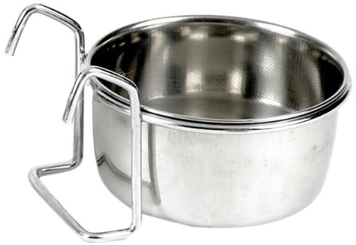 Classic Pet Products Coop Cup Stainless Steel Fixed Feeding Bowl , 600 ml