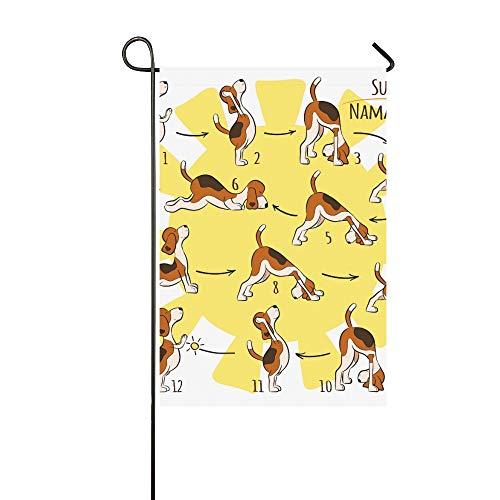 JSXMNA Home Dekorative Outdoor-Fahne, doppelseitig, isoliert, Cartoon-Motiv, für den Garten, 30,5 x 45,7 cm
