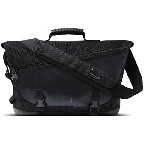 Acme Made Clyde St. Messenger Bag with BombShell Technical Ballistic Nylon Fabric for 15-Inch Notebooks, Black