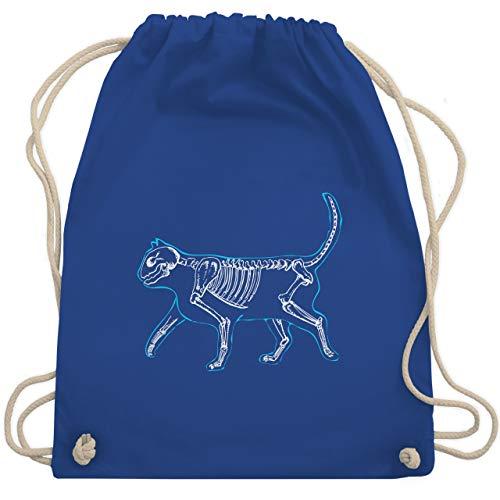 Katzen - spooky cat - Unisize - Royalblau - WM110 - Turnbeutel & Gym - Tod Und Kupfer Kostüm