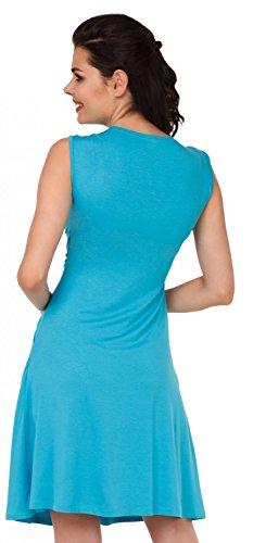 Zeta Ville Maternité - Robe trapèze de grossesse d'allaitement - femme - 500c Cyan