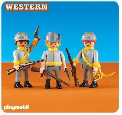 PLAYMOBIL-Grupo Soldados Confederados