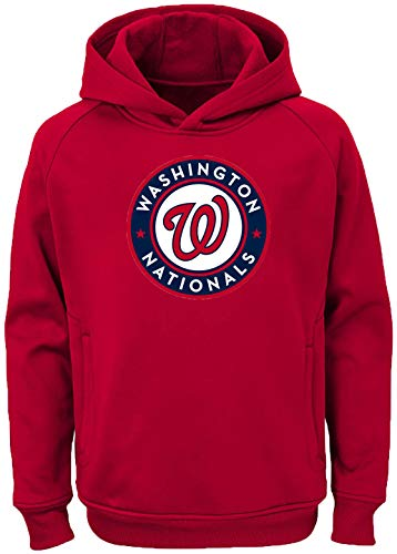 Outerstuff MLB Youth 8-20 Team Color Polyester Performance Primary Logo Pullover Hoodie Hoodie, Jungen, Washington Nationals, X-Large 18/20 US (Washington Nationals-pullover)