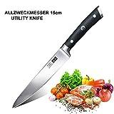 SHAN ZU Couteau de Cuisine Multifonction Professionnel Couteau Chef Couteau de Cuisine Acier 15cm - Classic Series