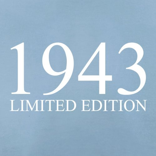 1943 Limierte Auflage / Limited Edition - 74. Geburtstag - Herren T-Shirt - 13 Farben Himmelblau