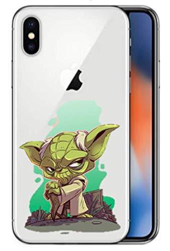 Art Design Hülle für iPhone XR Star Wars Master Yoda Master Dark Vador Father Jedi Soft Silikon